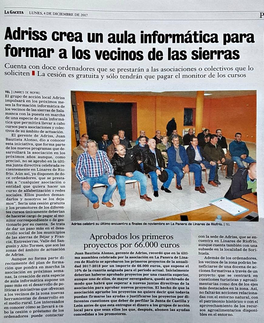 La Gaceta - Adriss Aula Informática